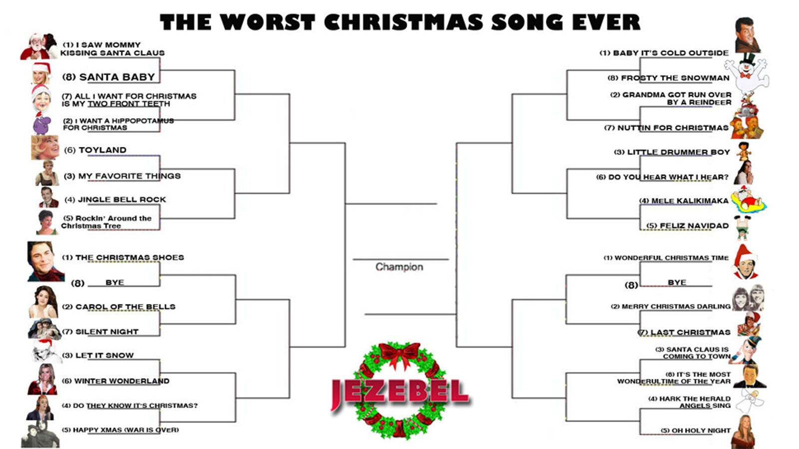 December Madness: The Tournament To Crown The Worst Christmas Song Ever