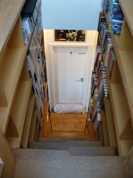 Lighting Basement Washroom Stairs: Stairs Bookcase Actually Makes Me Want To Move To London
