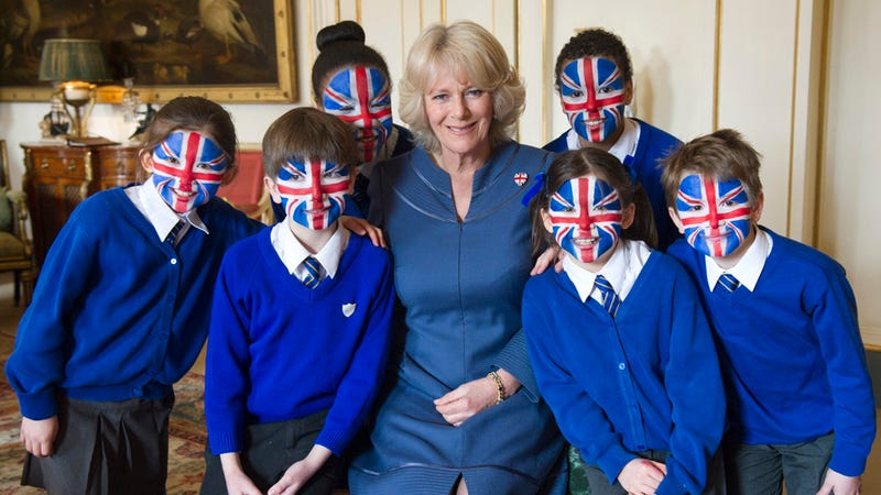 Illustration for article titled Camilla Parker Bowles: Unassuming Duchess or Leader of a Crazed British Children's Cult?