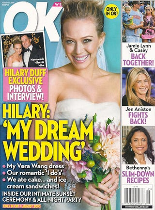 Illustration for article titled This Week In Tabloids: Hilary Duff Lets A Tabloid Crash Her Wedding