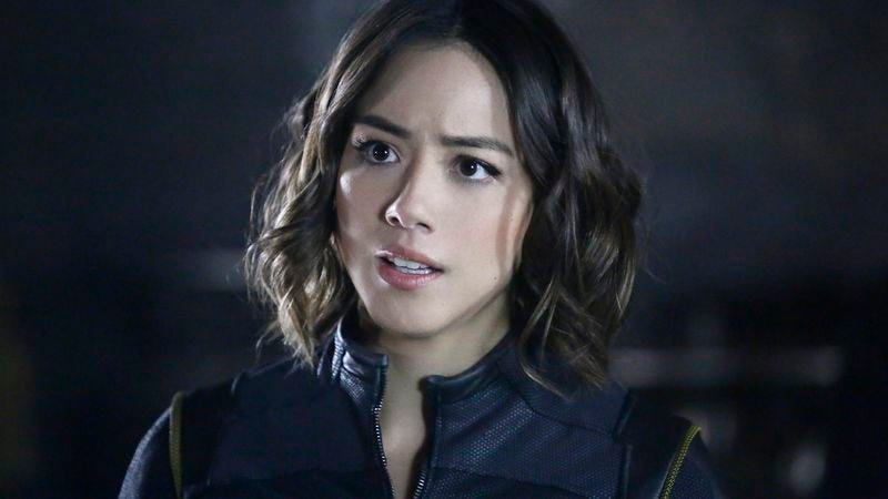 Chloe Bennet, playing Inhuman character Daisy Johnson on Marvel's Agents Of S.H.I.E.L.D.