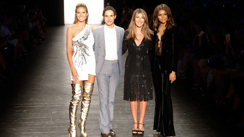 Heidi Klum, Zac Posen, Nina Garcia, and Zendaya in the Project Runway season 15 finale