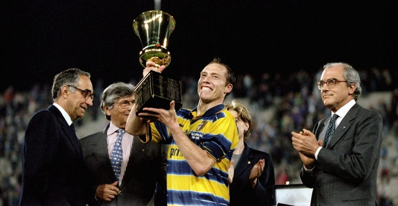 Illustration for article titled Broke Italian Club Parma Resorts To Selling Off Trophies