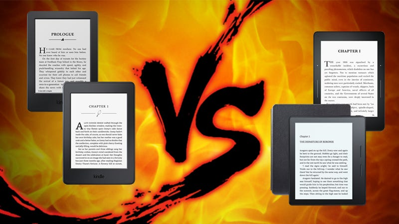 Illustration for article titled Ereader Showdown: Amazon Kindles, Compared
