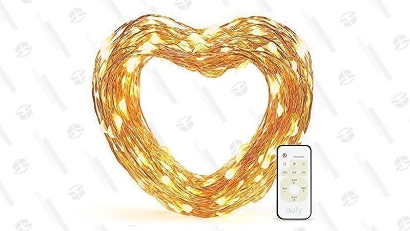 Luces de decoración Eufy 33' con mando | $10 | AmazonLuces de decoración Eufy 33' sin mando | $5 | Amazon