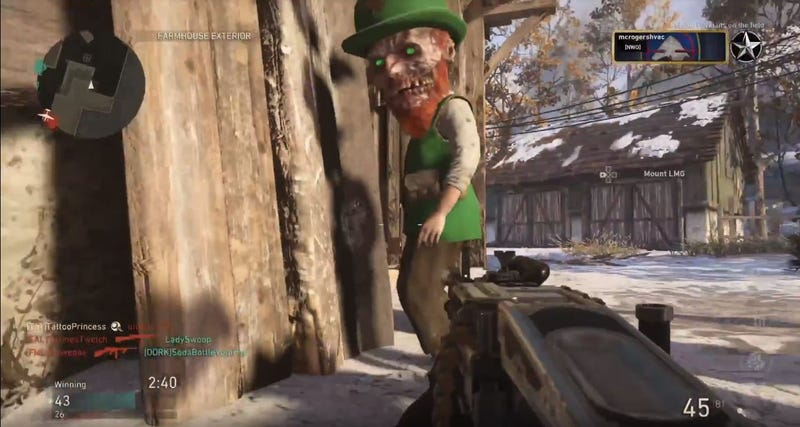 Illustration for article titled COD: WWII Adds Nightmare Leprechauns For St. Patrick's Day