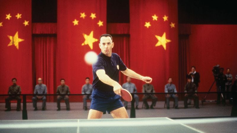Illustration for article titled Tom Hanks had some CGI help for his Forrest Gump ping-pong scenes