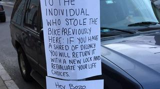 Illustration for article titled Passive-Aggressive Notes Explain Bike Parking Laws