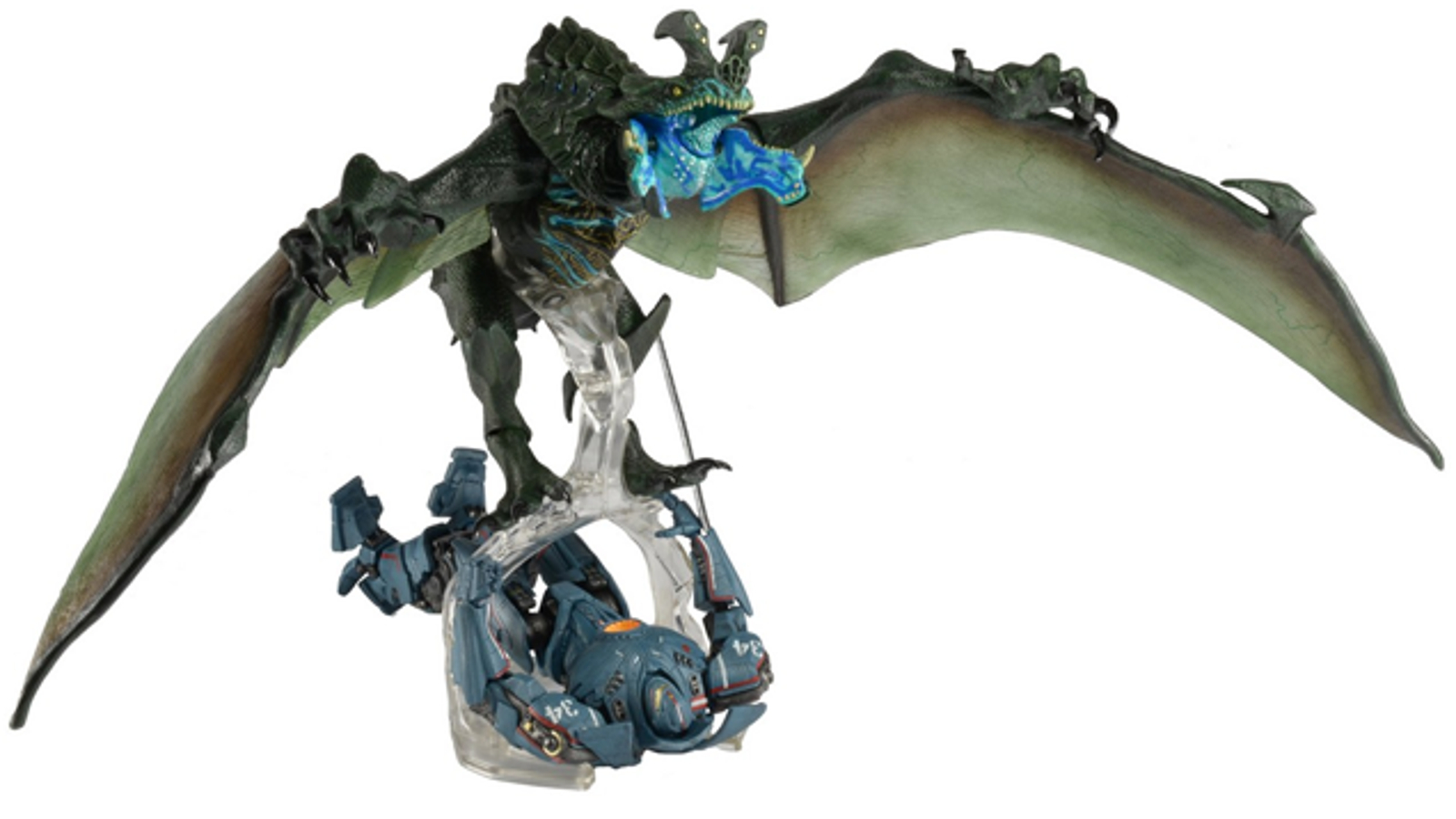 this awesome pacific rim kaiju can carry your jaeger toys to their doom