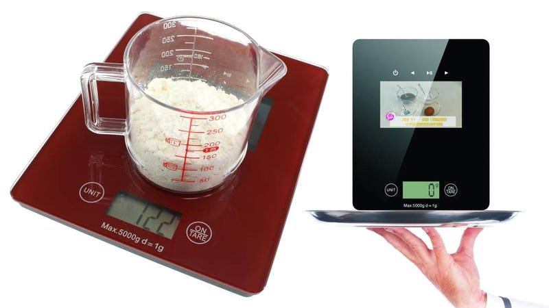 Illustration for article titled The Last Thing a Kitchen Scale Needs Is a Built-In Video Display