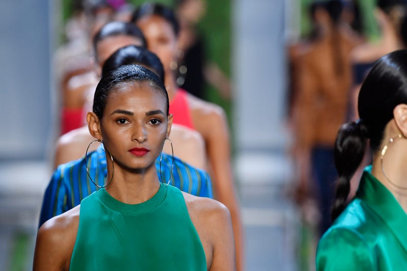 Models walk the runway for Cushnie during New York Fashion Week: The Shows at at Spring Studios on September 7, 2018 in New York City.