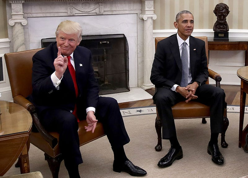 Then-President-elect Donald Trump and then-President Barack Obama (Win McNamee/Getty Images)
