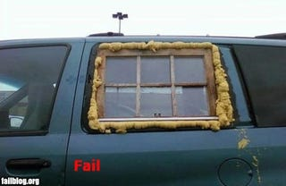 """Illustration for article titled """"Ghetto Fab"""" Car Window Fail"""