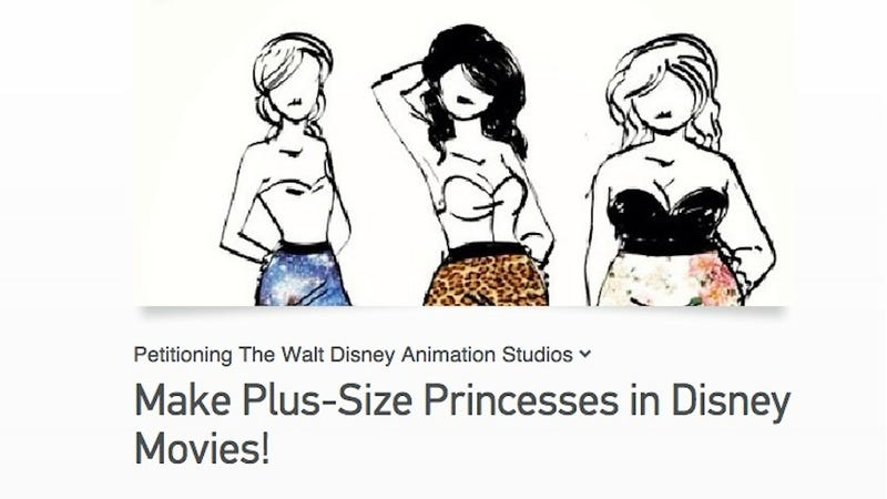 Illustration for article titled Teen Asks Disney to Make a Plus-Size Princess