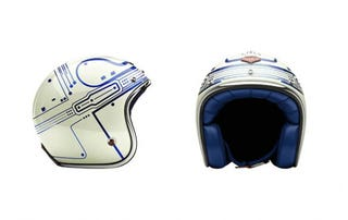 Illustration for article titled Tron Guy's Motorcycle Helmet