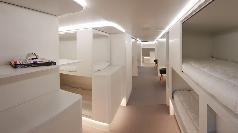 Illustration for article titled Airbus Wants to Stuff a Bunch of Comfy Beds Into a Plane's Cargo Hold for Long Flights