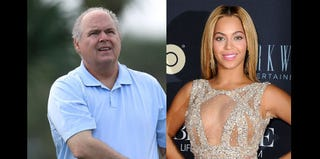 Rush Limbaugh (David Cannon/Getty Images); Beyoncé (Dave Kotinsky/Getty Images)
