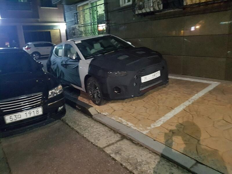 2018 hyundai veloster. Fine Hyundai In Mid September The 2018 Hyundai Veloster Was Caught Heavily Camouflaged  Testing In South Korea This Is Sadly All We Can See Of Front  On Hyundai Veloster