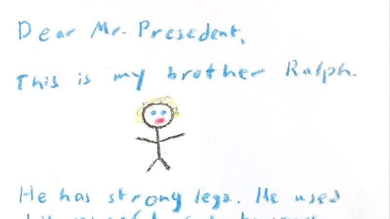 Illustration for article titled A Teacher Asked Her Third-Graders To Write Letters To The President And They're Adorable