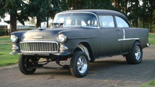 Illustration for article titled 1955 Chevrolet Bel Air is one awesome gasser