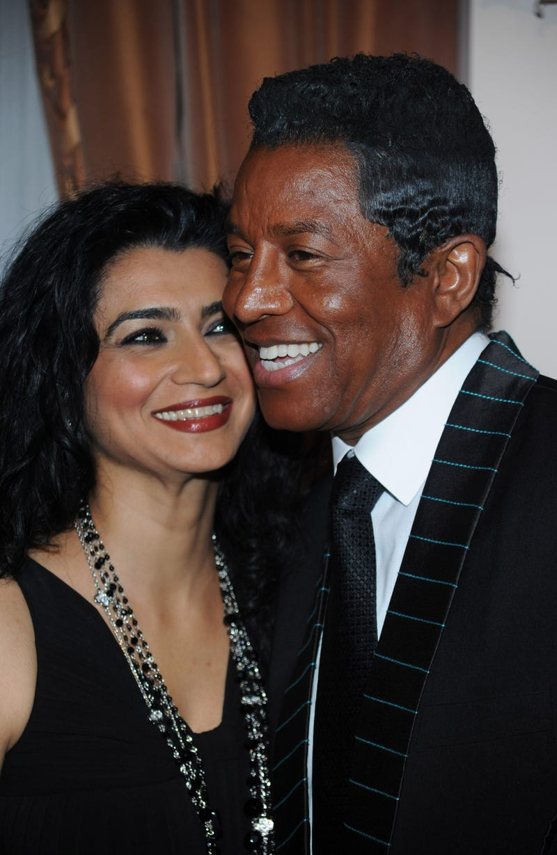 Halima Rashid and Jermaine Jackson on April 7, 2010, in Beverly Hills, Calif.Frazer Harrison/Getty Images