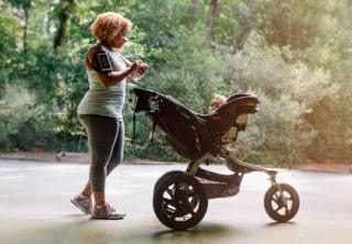 Ashley Hicks with daughter Olivia in her strollerKate T. Parker