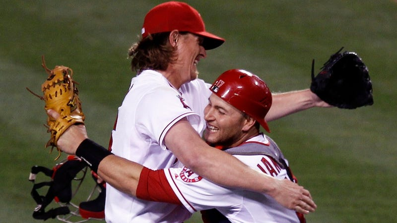 Illustration for article titled Jered Weaver Peed On Superstition During His No-Hitter