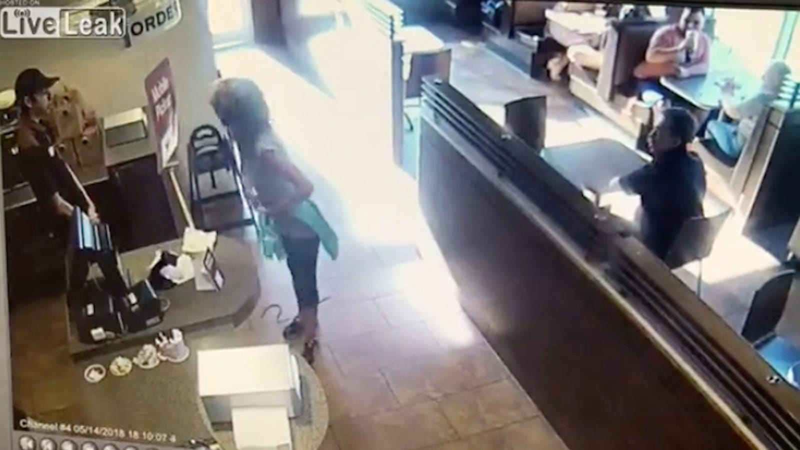 Woman Furiously Shits On Floor Of Tim Hortons, Throws It At Employees