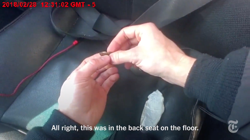 Illustration for article titled Video Appears to Show NYPD Cops Planting Drugs in Black Teen's Car