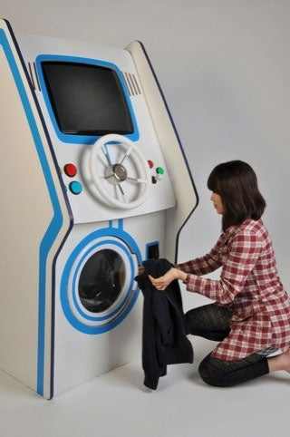 Illustration for article titled Amazing Arcade Machine Inverts the Relationship Between Gaming and Laundry