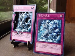 Illustration for article titled Yu-Gi-Oh! Fan Creates Stunning Shadowbox Cards