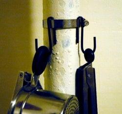 Illustration for article titled DIY kitchen pipe hooks