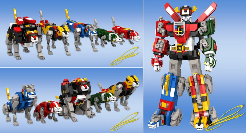 Illustration for article titled Lego Would Break the Internet if It Made This Voltron Set