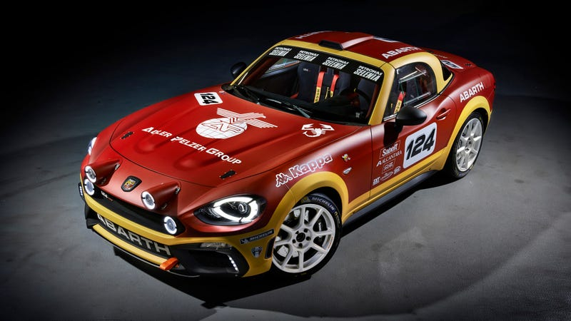 Illustration for article titled The 300 HP Fiat Abarth 124 Rally Car Better Not Break My Heart