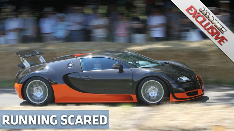 What car made the Bugatti Veyron SS back down from a fight