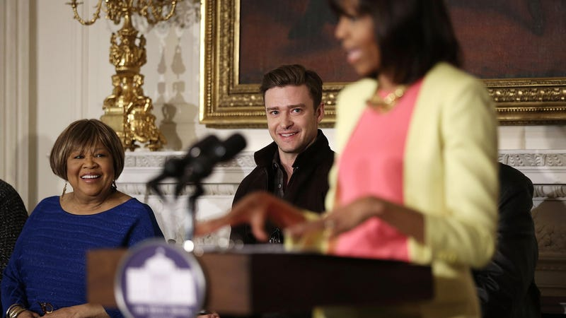 Illustration for article titled Justin Timberlake and Jessica Biel Visited the White House and Then Justin Made This Face