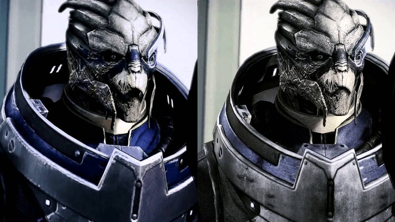 Note: Image taken from a mod that upgrades Garrus' Mass Effect 3 textures to 4096x4096(4K) resolution. Vanilla on the left, modded on the right.