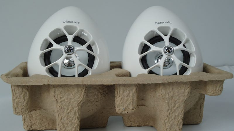 Illustration for article titled Daily Desired: How Can You Resist a Pair of Adorable, Egg-Shaped Speakers?