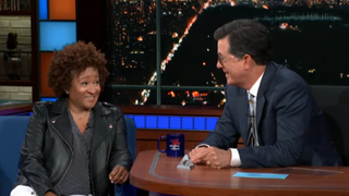 Former NSA employee Wanda Sykes tells Stephen Colbert that, yeah, he's probably bugged