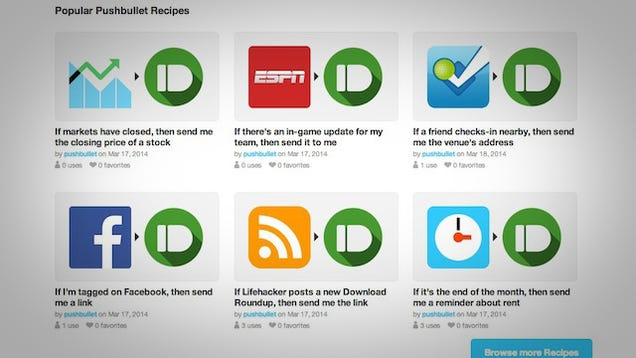 Pushbullet's IFTTT Channel Turns Any Trigger Into a ...