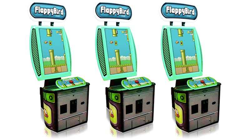 Illustration for article titled Who Would Ever Feed Quarters Into a Flappy Bird Arcade Machine?