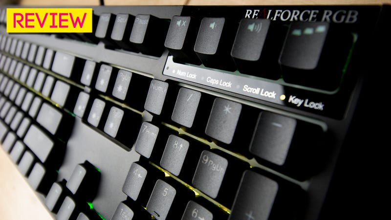 Illustration for article titled Topre Realforce RGB Keyboard Review: Life Beyond The Rubber Dome