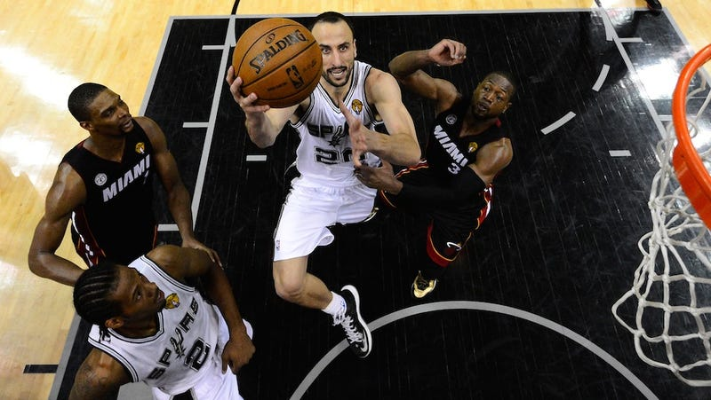 Illustration for article titled Manu Ginobili Is The Spurs' Counterpunch, And Miami's On The Ropes