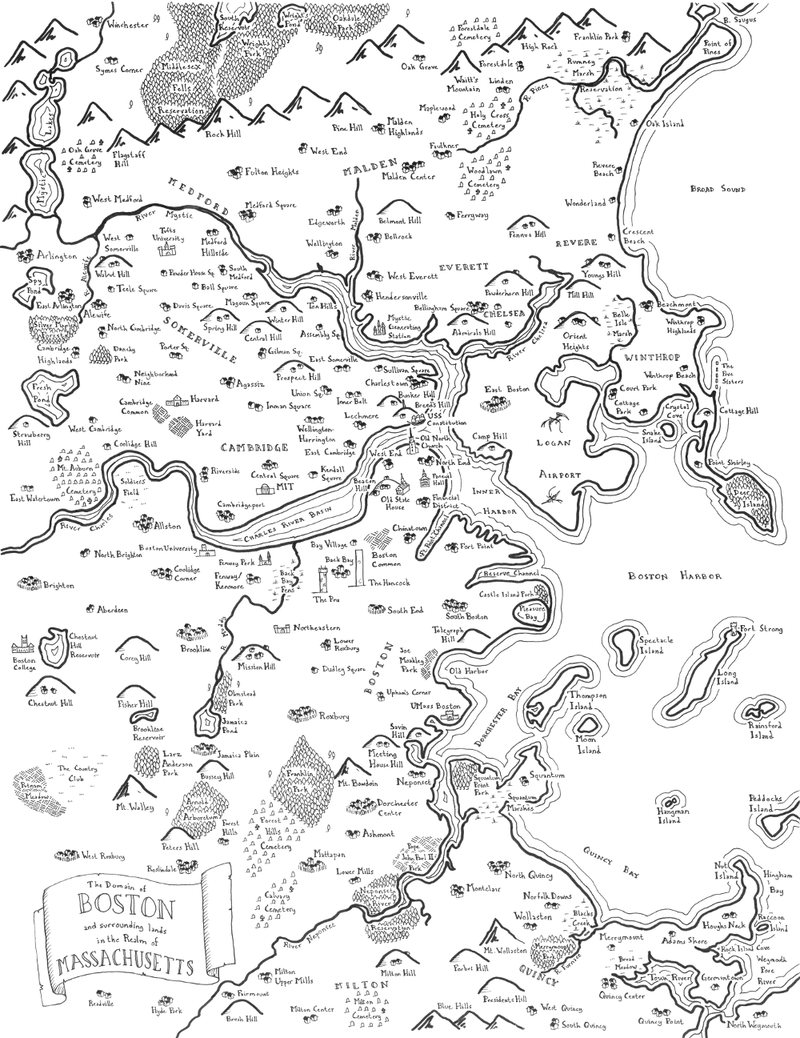 Illustration for article titled Maps Of Modern Cities Drawn In The Style Of J.R.R. Tolkien