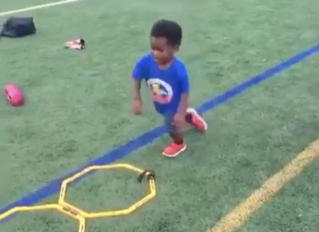 Torrey Smith's Son Knows You Have To Put In The Reps To Be The …