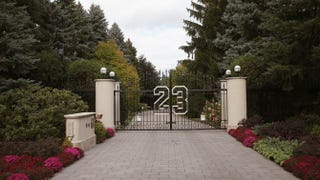 The front gate to Michael Jordan's house in Highland Park, Ill.Scott Olson/Getty Images