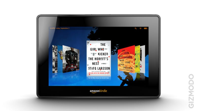 "Illustration for article titled Rumor: The Kindle Fire Is Only a ""Stopgap"" Before the Real Amazon Tablet?"