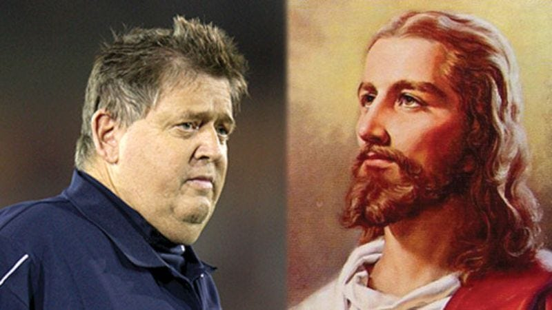 Illustration for article titled Charlie Weis Called Before Christ To Discuss Future With Notre Dame