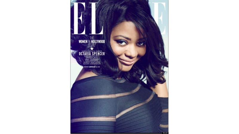 Illustration for article titled Too Bad Octavia Spencer's Gorgeous Elle Cover Won't Be on Newsstands