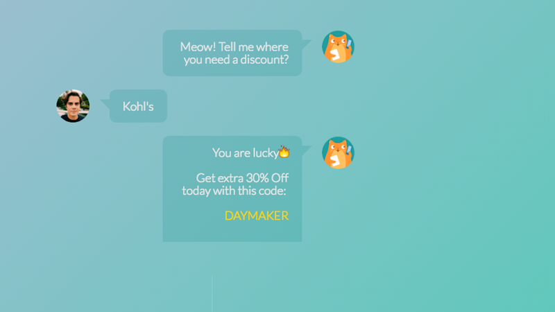 PennyCat Is a Chat Bot that Delivers Discounts to Any Store, When